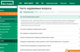 ligastavok интерактивные ставки в БК